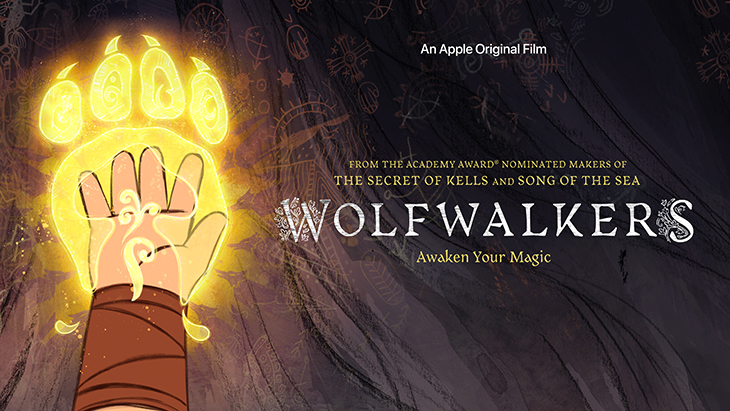 Key art for Apple TV+'s original animated film, 'Wolfwalkers'