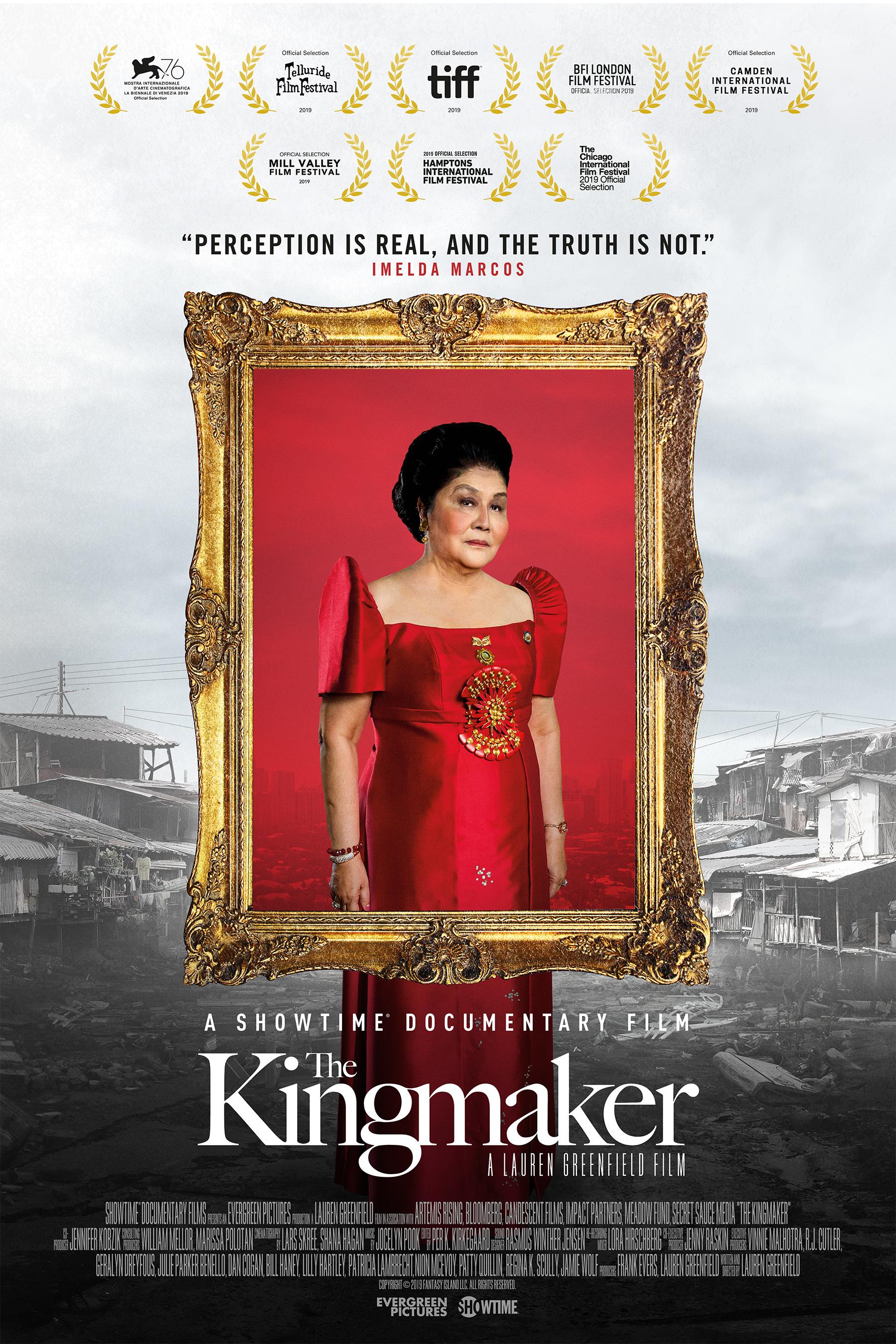 Poster for Showtime documentary 'The Kingmaker'