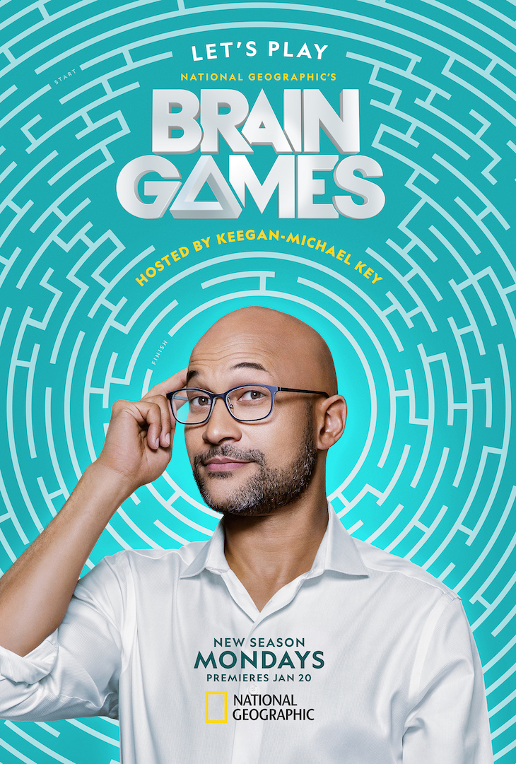 Key art for Nat Geo's revamped 'Brain Games'