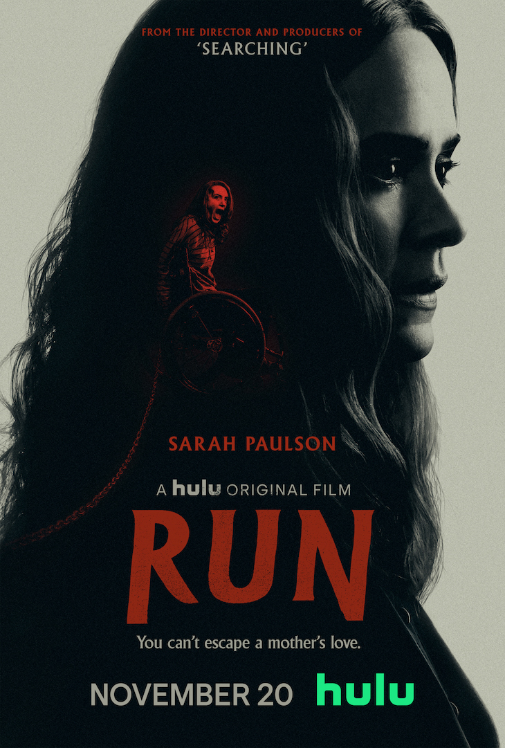 Key art for Hulu's original film 'Run'