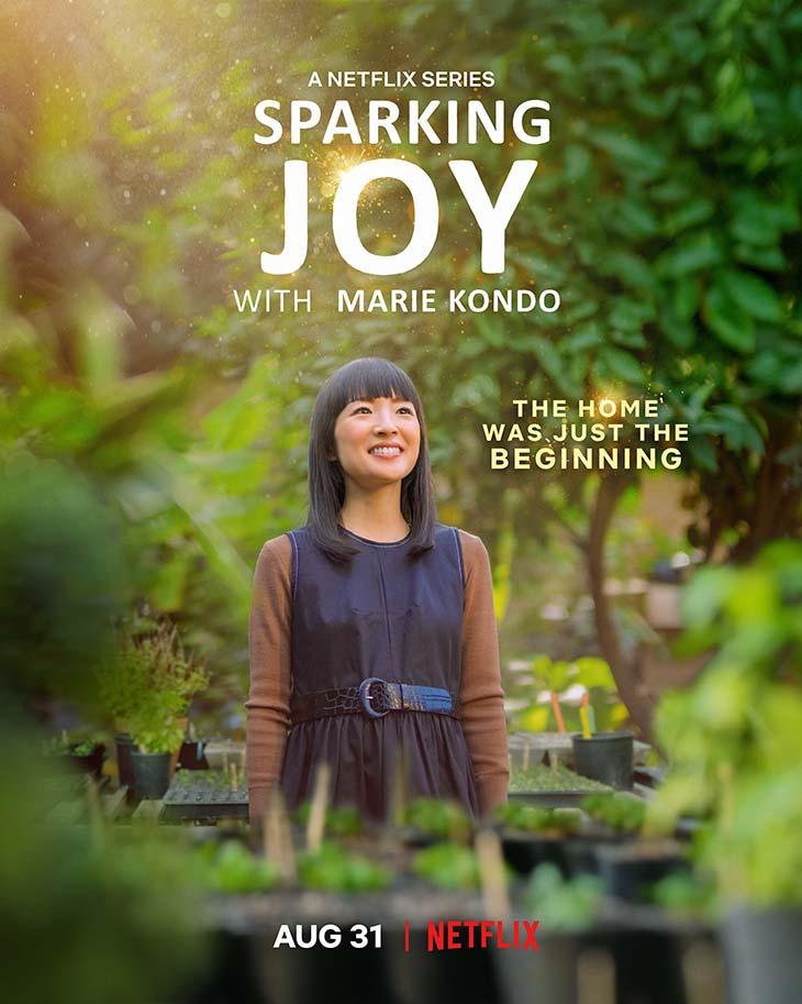 Key art for new Netflix limited series 'Sparking Joy with Marie Kondo.'