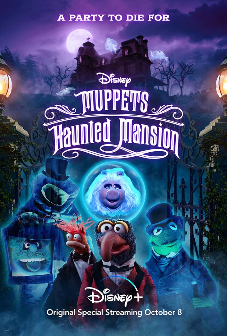 Key art for Disney Plus' 'Muppets Haunted Mansion'