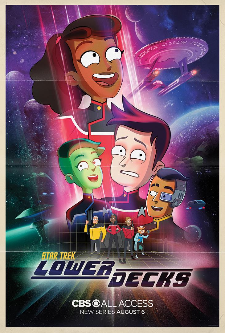 Key art for CBS All Access' new 'Star Trek' animated series, 'Lower Decks'