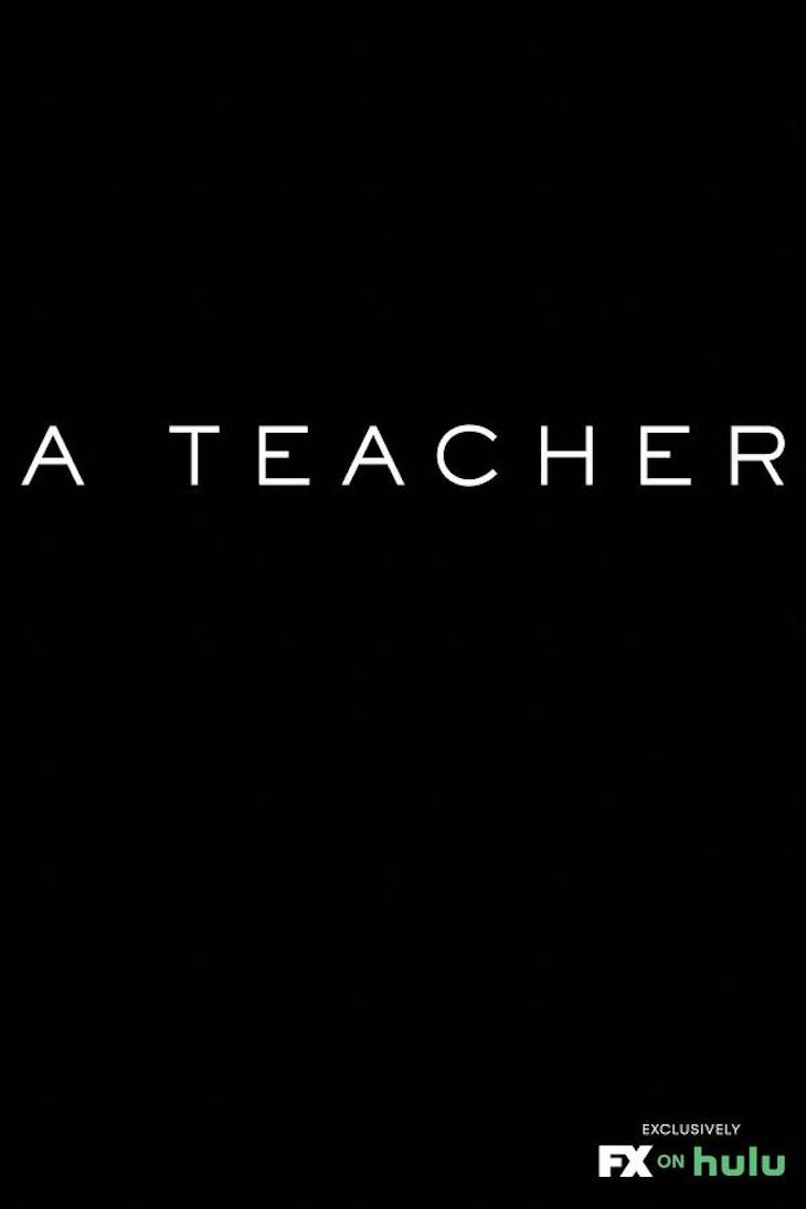 The key art for FX on Hulu's 'A Teacher' resembles writing on a blackboard.