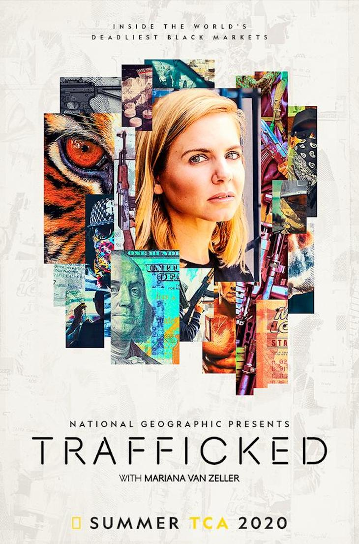 Key art for Nat Geo's 'Trafficked with Mariana van Zeller'