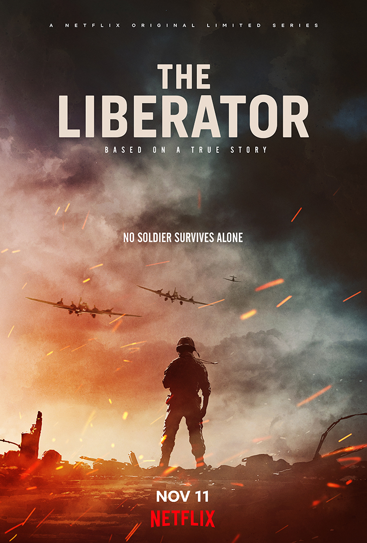 Key art for Netflix's animated WWII series 'The Liberator'