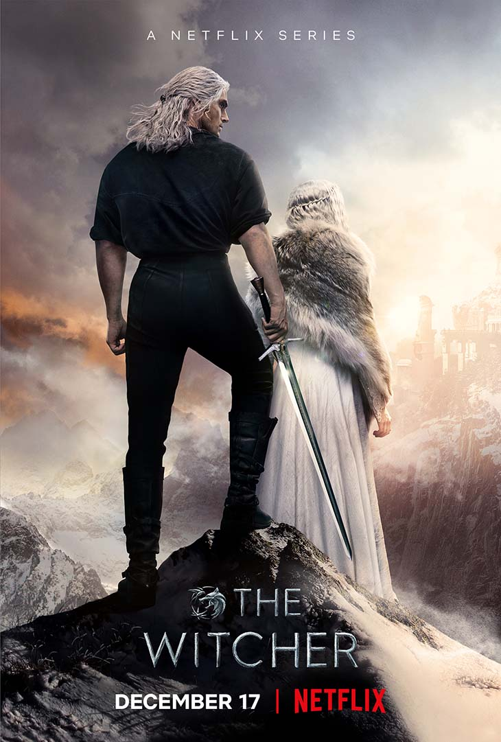 Key art for season two of Netflix's global fantasy epic 'The Witcher.'
