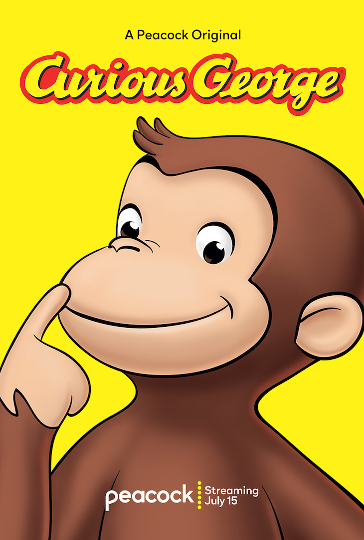 Key art for Peacock animated original 'Curious George'