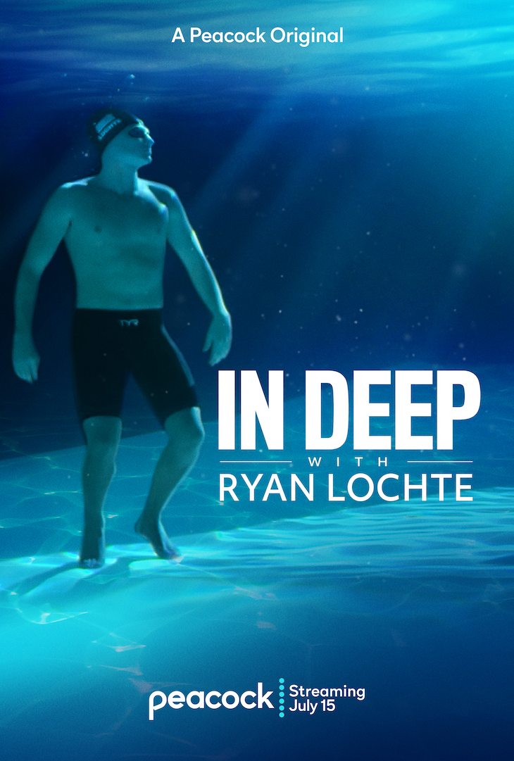 Key art for Peacock docuseries 'In Deep with Ryan Lochte'