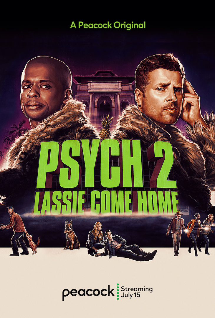 Key art for USA's 'Psych' sequel 'Lassie Come Home'