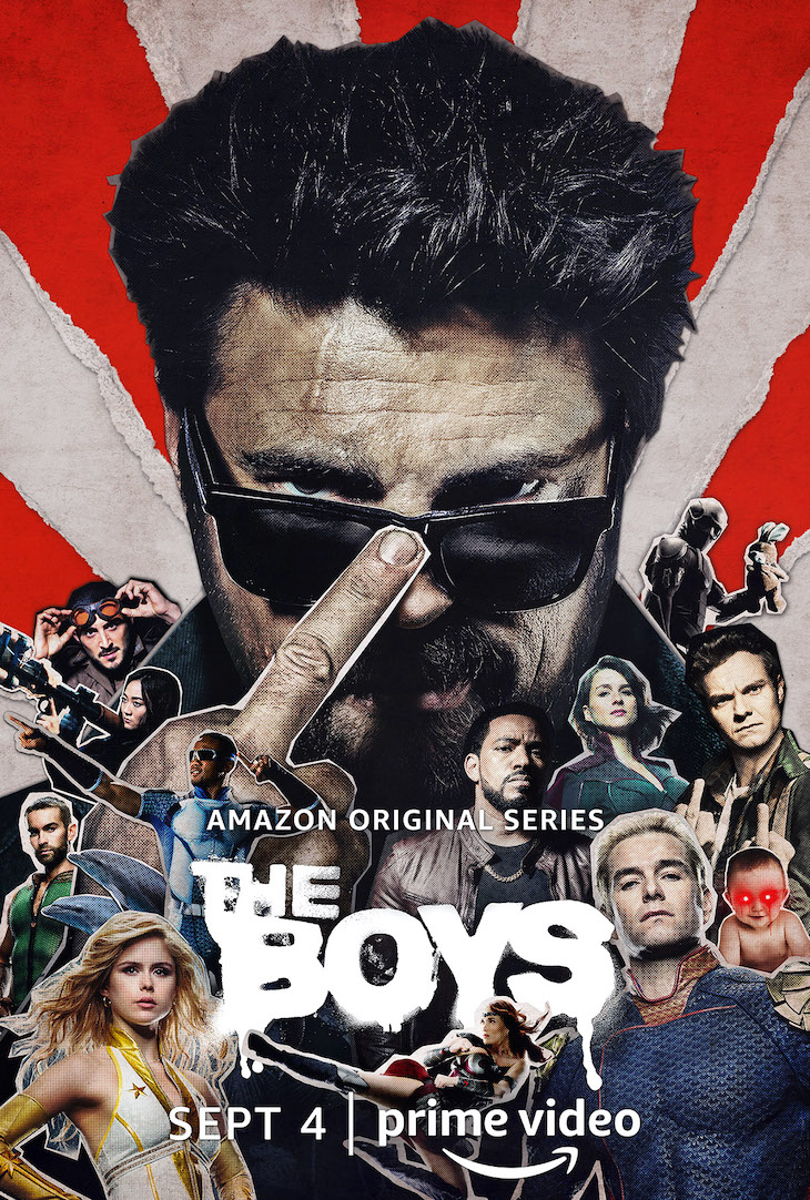 Key art for season two of Prime Video's 'The Boys,' featuring Karl Urban as Butcher