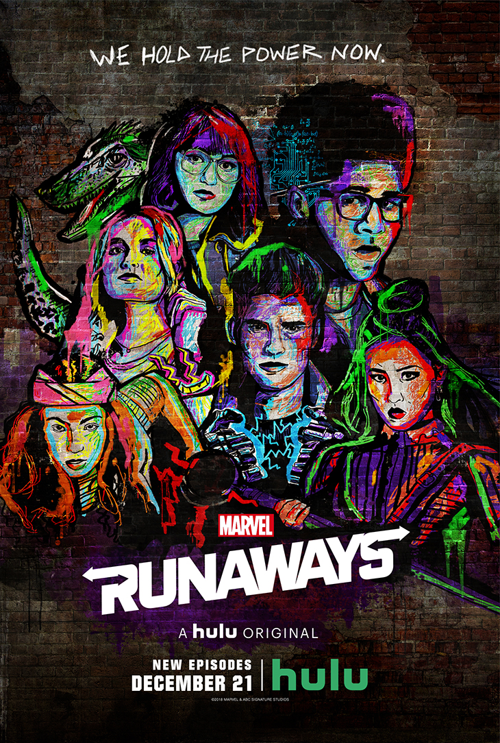 'Marvel's Runaways' season two key art. [Hulu]