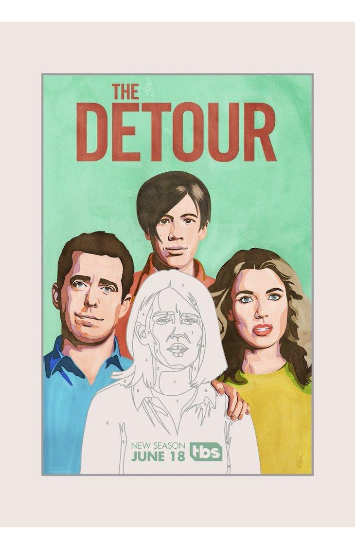Key art for Season 4 of TBS' 'The Detour'