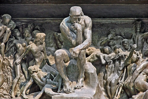 "From Rodin's ""The Gates of Hell"""