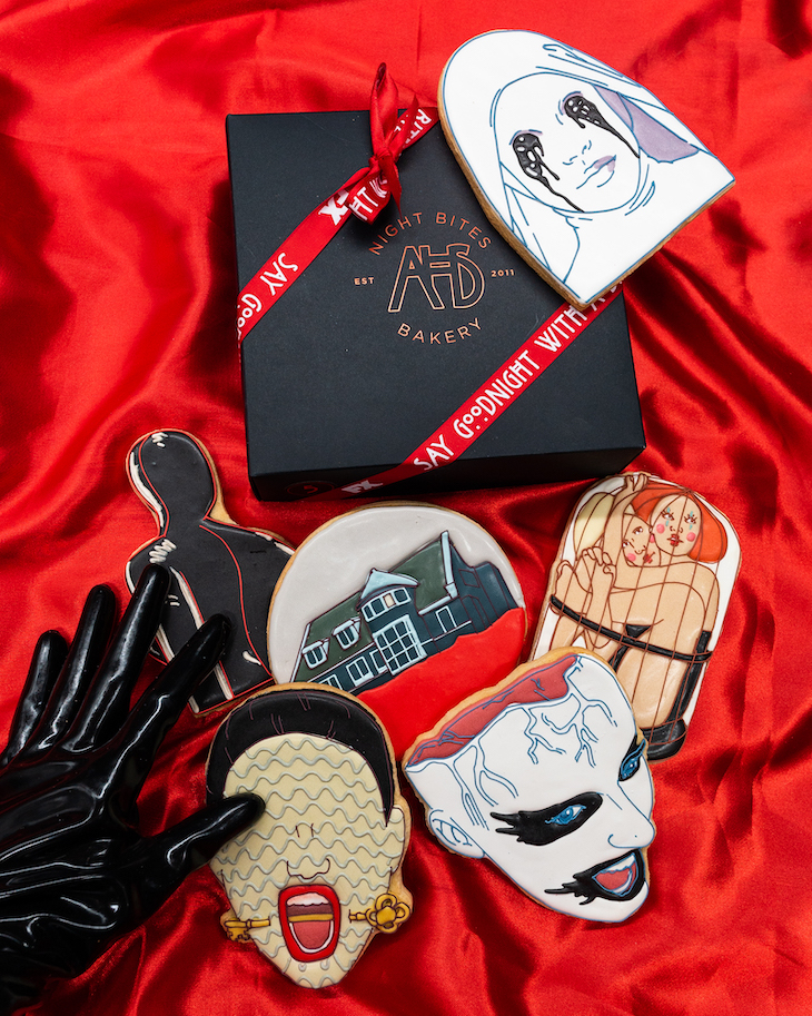 'American Horror Story' custom cookies from Manhattan's Funny Face Bakery.