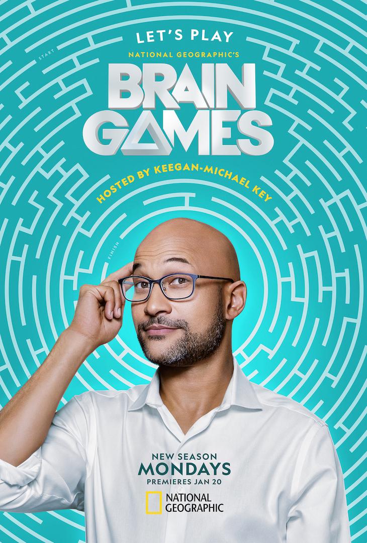 Key art for Nat Geo's revamped 'Brain Games'