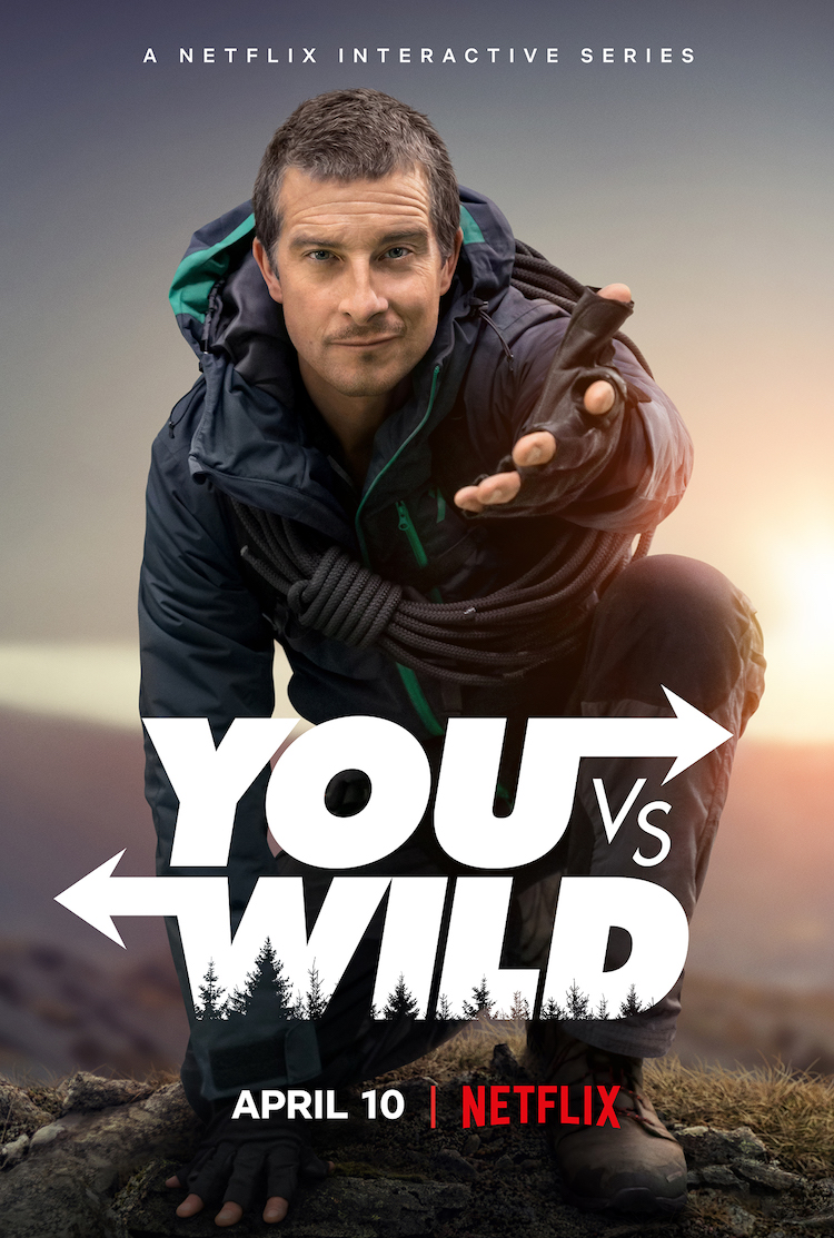 Key art for Netflix's new interactive series 'You Vs. Wild' starring Bear Grylls