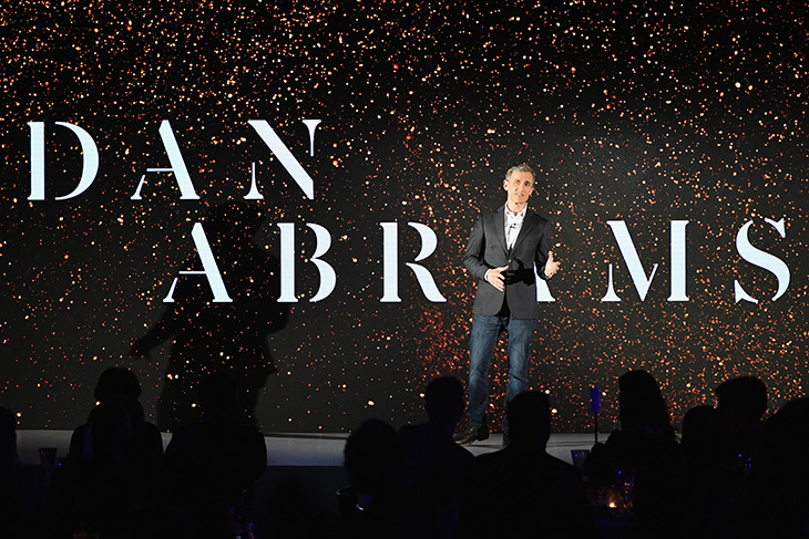 TV personality Dan Abrams speaks at the 2018 A+E Upfront on March 15, 2018 in New York City. (Photo by Astrid Stawiarz/Getty Images for A+E) TV personality Dan Abrams speaks at the 2018 A+E Upfront on March 15, 2018 in New York City. (Photo by Astrid Stawiarz/Getty Images for A+E)