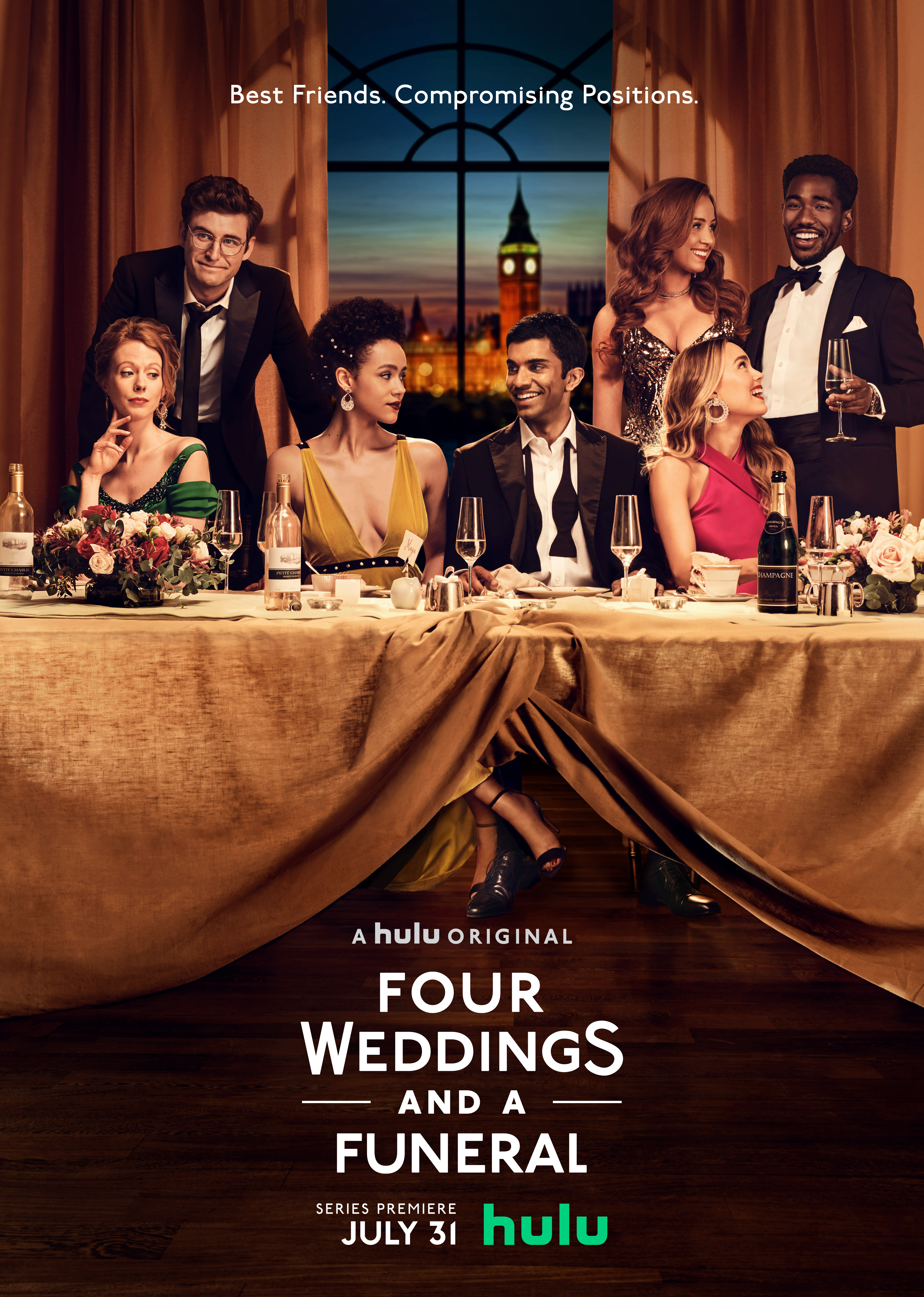'Four Weddings and a Funeral' key art. [Hulu]