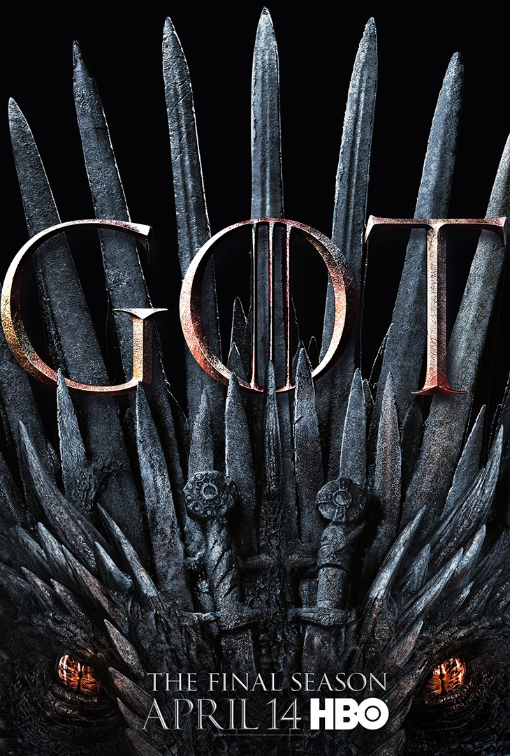 Poster for Season 8 of HBO's 'Game of Thrones'