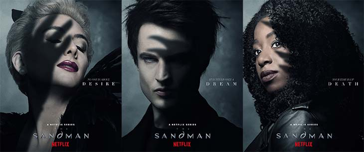 Desire, Dream and Death for Netflix's upcoming 'The Sandman.'