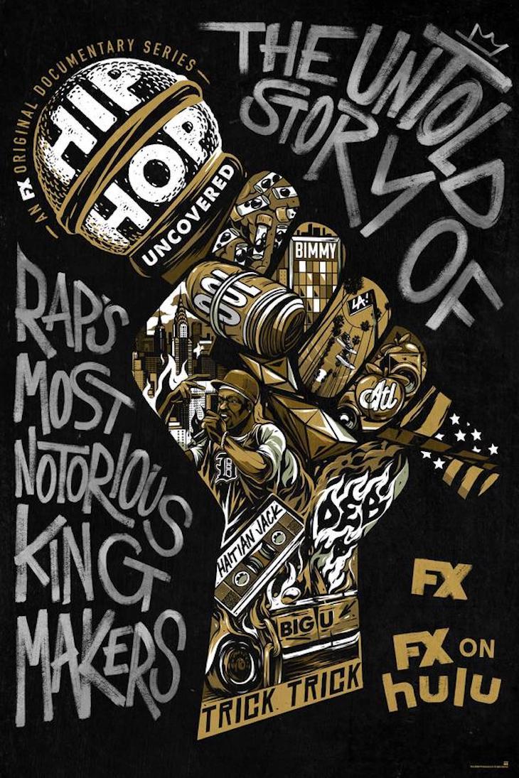Key art for FX docuseries 'Hip-Hop Uncovered'