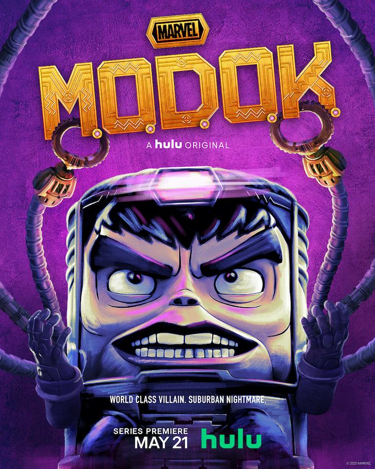 Key art for Hulu's MODOK starring Patton Oswalt.