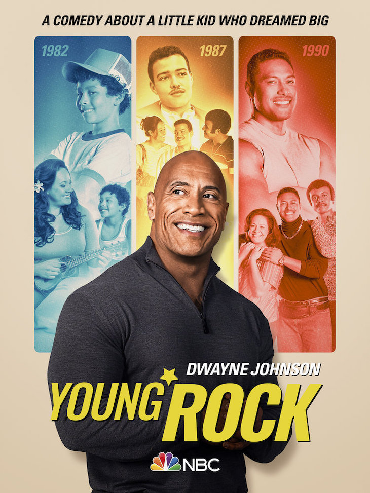 Key art for NBC's 'Young Rock,' based on life of Dwayne Johnson