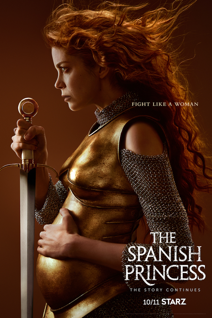Key art for part two of Starz' limited series, 'The Spanish Princess'