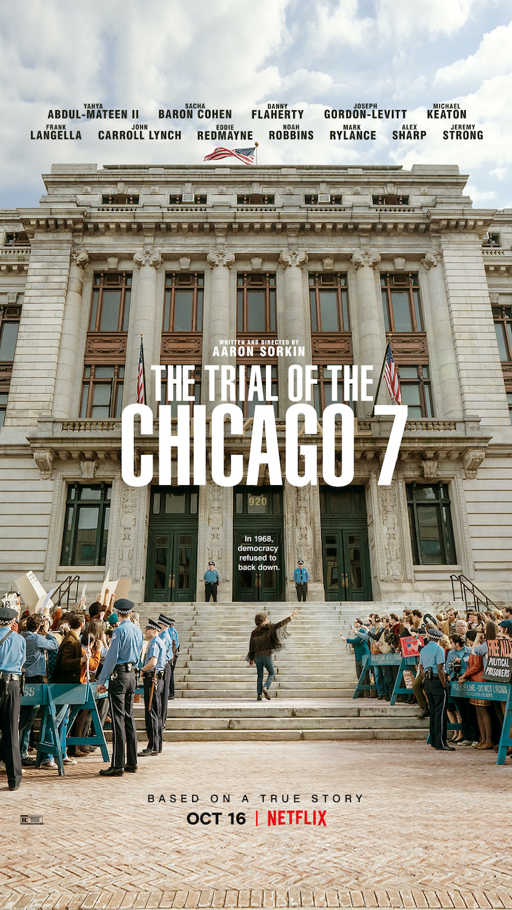 Key art for Netflix's 'The Trial of the Chicago 7'
