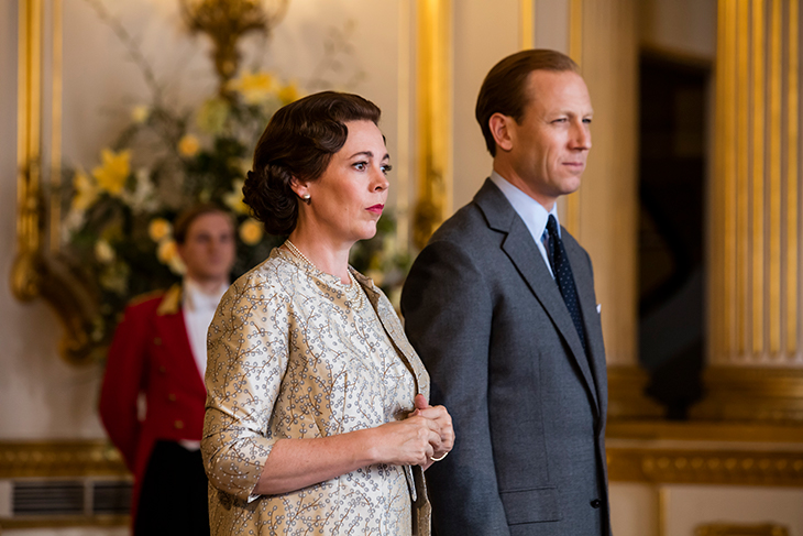 Olivia Colman, Tobias Menzes as Queen Elizabeth II and Prince Philip in Netflix's 'The Crown'
