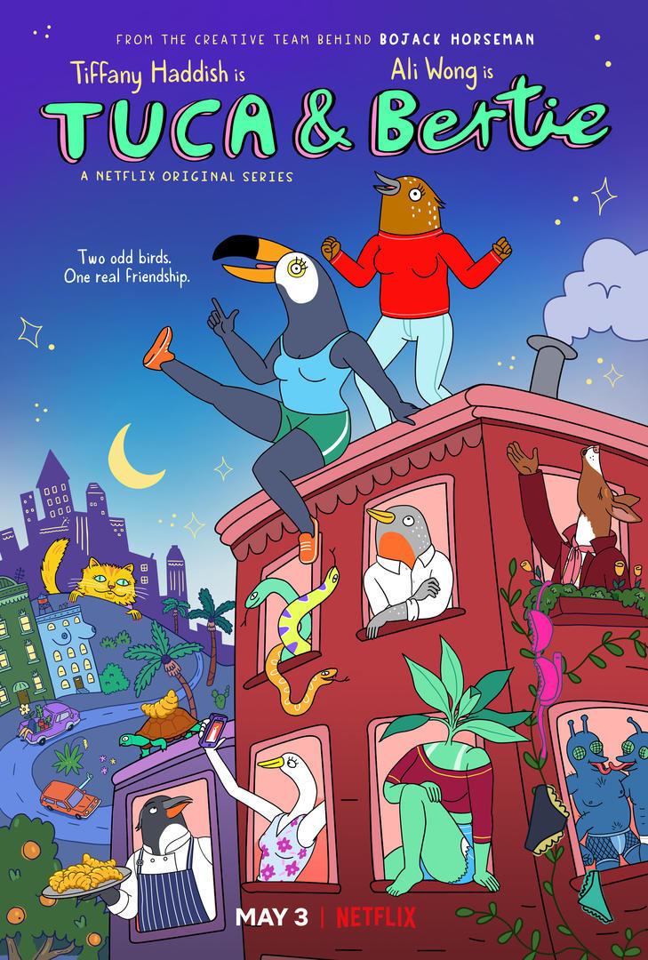 Key art for Netflix's 'Tuca & Bertie'