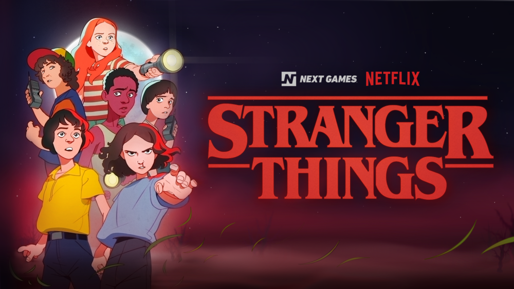 Key art for Stranger Things' mobile game set to launch in 2020.