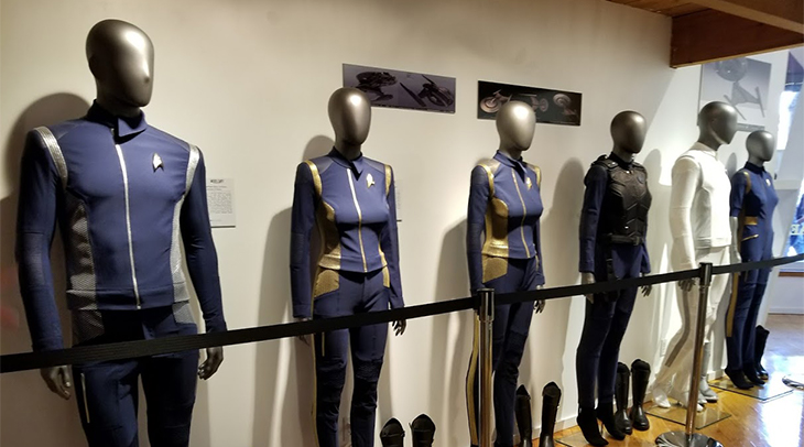 Costumes worn by the crew of the 'Star Trek: Discovery'