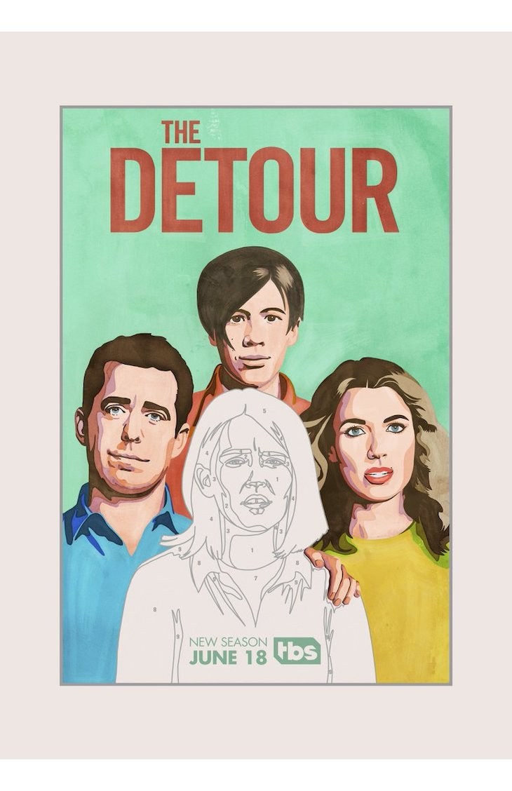Key art for Season 4 of TBS' 'The Detour'