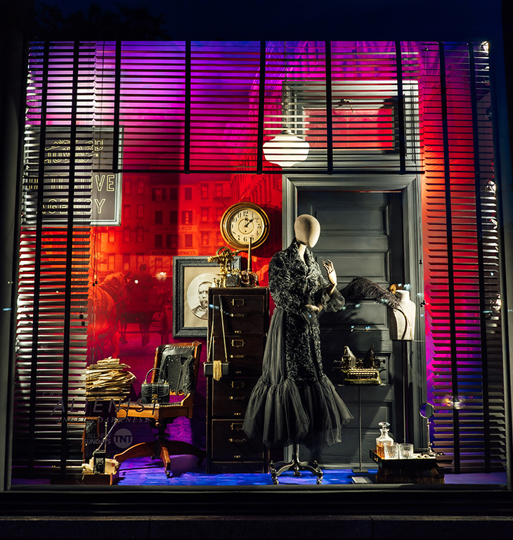 Bergdorf-Goodman store window for 'The Alienist: Angel of Darkness'