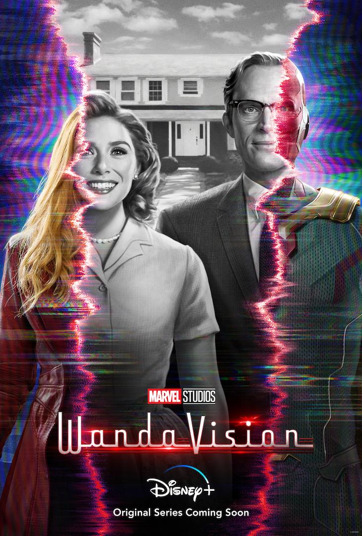 Key art for Disney+'s upcoming series 'WandaVision'