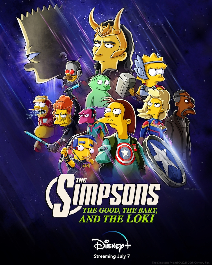 Key art for Disney+'s 'The Good, the Bart and the Loki'